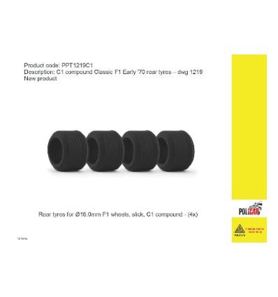Neumáticos traseros F1 -compuesto C1-