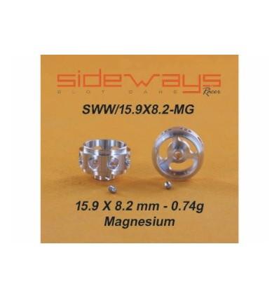 Llantas magnesio 15,9 x 8,2mm  0,74gr
