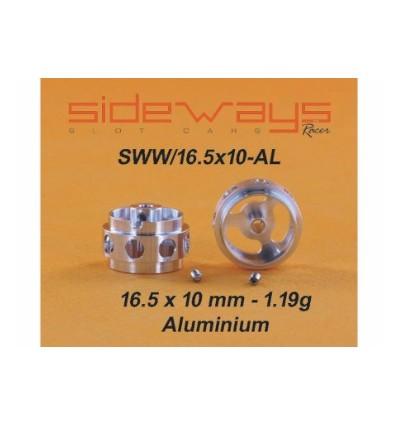 Llantas Aluminio 16,5x10mm. Aligeradas 1,19 gr.