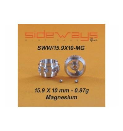Llantas Magnesio 15,9x10mm. Aligeradas 0,87gr.