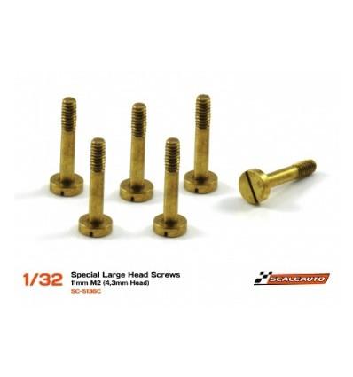 Tornillería para supensión 11mm. cabeza 4,3mm. M2