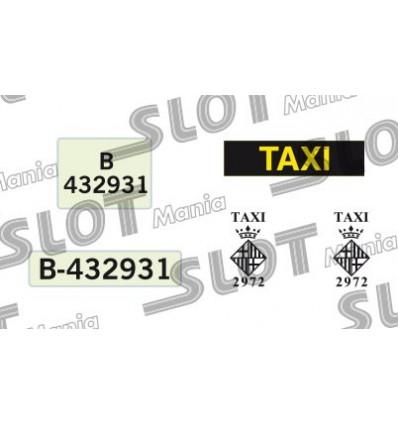 Calcomanía Taxi Bcn
