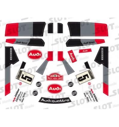"""Adhesivo Audi Quattro """"Oficial"""""""