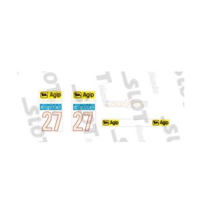 Adhesivo alerón posterior Ferrari F1/87 (nº27)