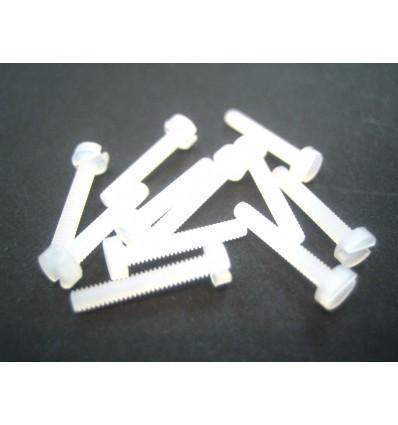 Tornillo cabeza cilíndrica nylon M2x12mm  (10u)