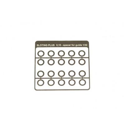Separadores acero inox. 0,10mm para guía 1/32 (20u)