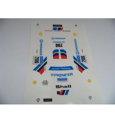 "Adhesivo Peugeot TT ""Pioneer"""