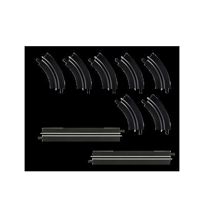 Curvas de 1 sólo carril + 2 rectas individuales
