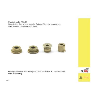 Cojinetes para soporte motor F1