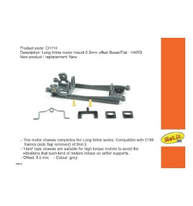 Soporte motor In-Line  Offset  0.5mm. Boxer/Flat Hard