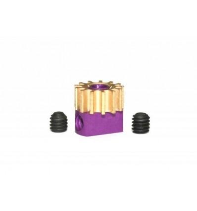 Piñón extraible latón Z13 x 6,7 mm. Torn.1.3mm.