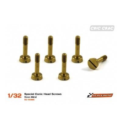 Tornilleria  especial cabeza cónica 9mm. M2.2