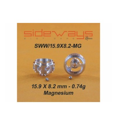Llantas Magnesio 15,9x8,2 mm. Alig.0.74 gr.