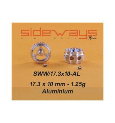 Llantas Aluminio 17,3x10mm. Aligeradas 1,25gr.