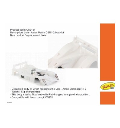 Carrocería Lola Aston Martin DBR1-2 LMP en kit bl.
