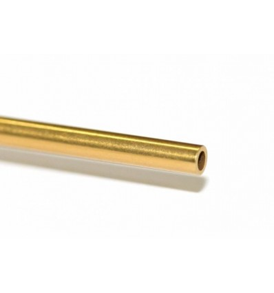 Eje acero hueco titanio 2,38 x 60mm
