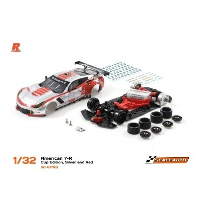 Corvette A7R GT3 Cup edition plata/rojo  R-Version AW