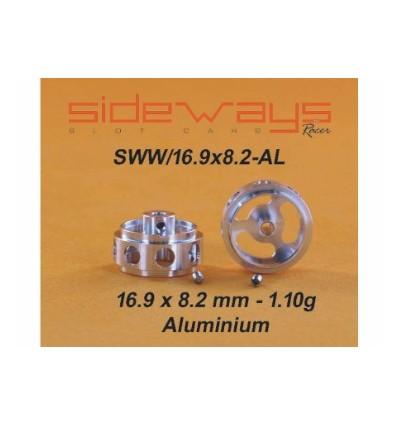 Llanta aluminio 16,9x8x2mm. Aliger.eje 2.38