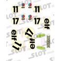 Tyrrell Ford F1 decals (nº 11- 17)