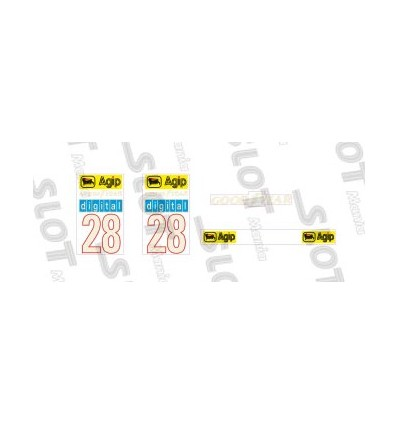 Adhesivo alerón posterior F1/87 (nº28)