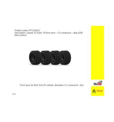 Neumáticos C1 delanteros F1 años 70  (DWG 1220)