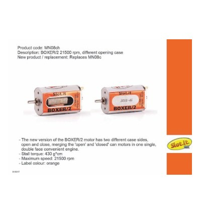 Motor Boxer/2  21500 rpm  430g/cm
