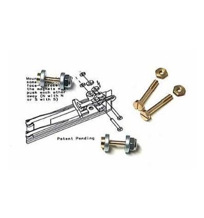 Suspensión magnética para soporte motor