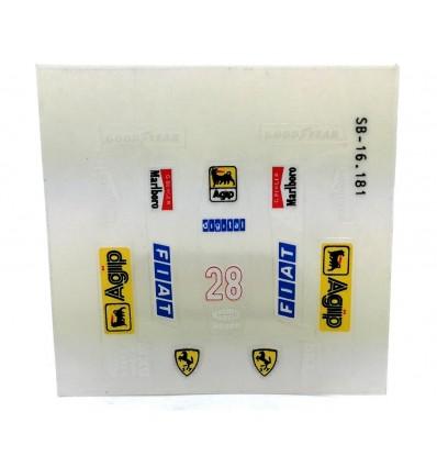 Adhesivos carrocería F1/ 87 (nº 28)