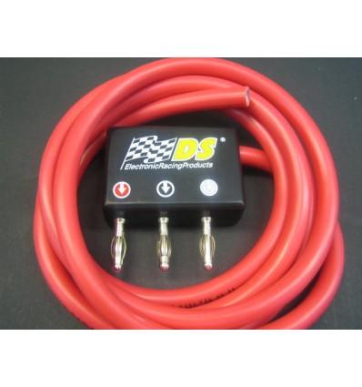 Cable silicona (1,5m) y conector compacto bananas