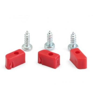Soportes plásticos y tornillos soporte motor triangular (3+3)