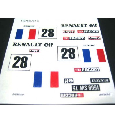 Adhesivo Reanault 5 (Francia nº28)
