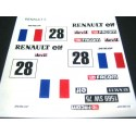 "Adhesivo Renault 5 ""Francia nº28"""