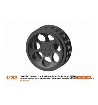 Llanta plástico 3DP 16.5x8 mm  Monza-2
