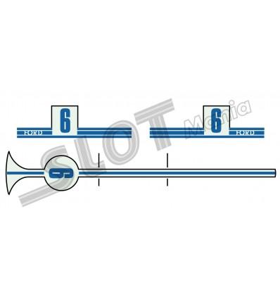 Calcomonía Ford GT (azules)