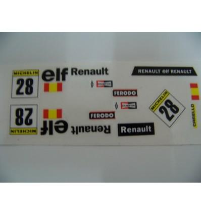 """Adhesivo """"Esp. nº 28"""" Renault 5"""